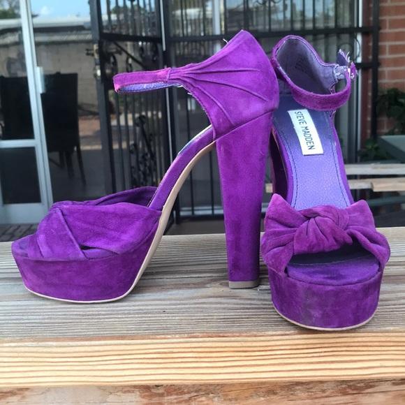 Purple Platform Heels